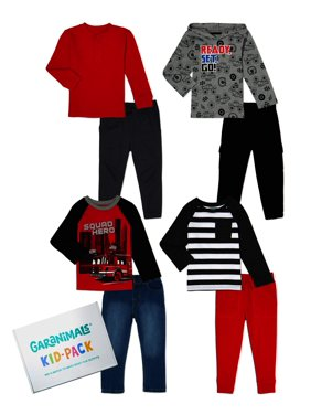 Garanimals Baby and Toddler Boys Kid-Pack Gift Box, 8-Piece Mix & Match Sets