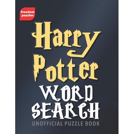 Harry Potter Word Search: Find over 1,600 words from J.K Rowling's magical books and films including Hogwarts, the characters you love, spells, actors and more in this unofficial Puzzle Book (Paperbac