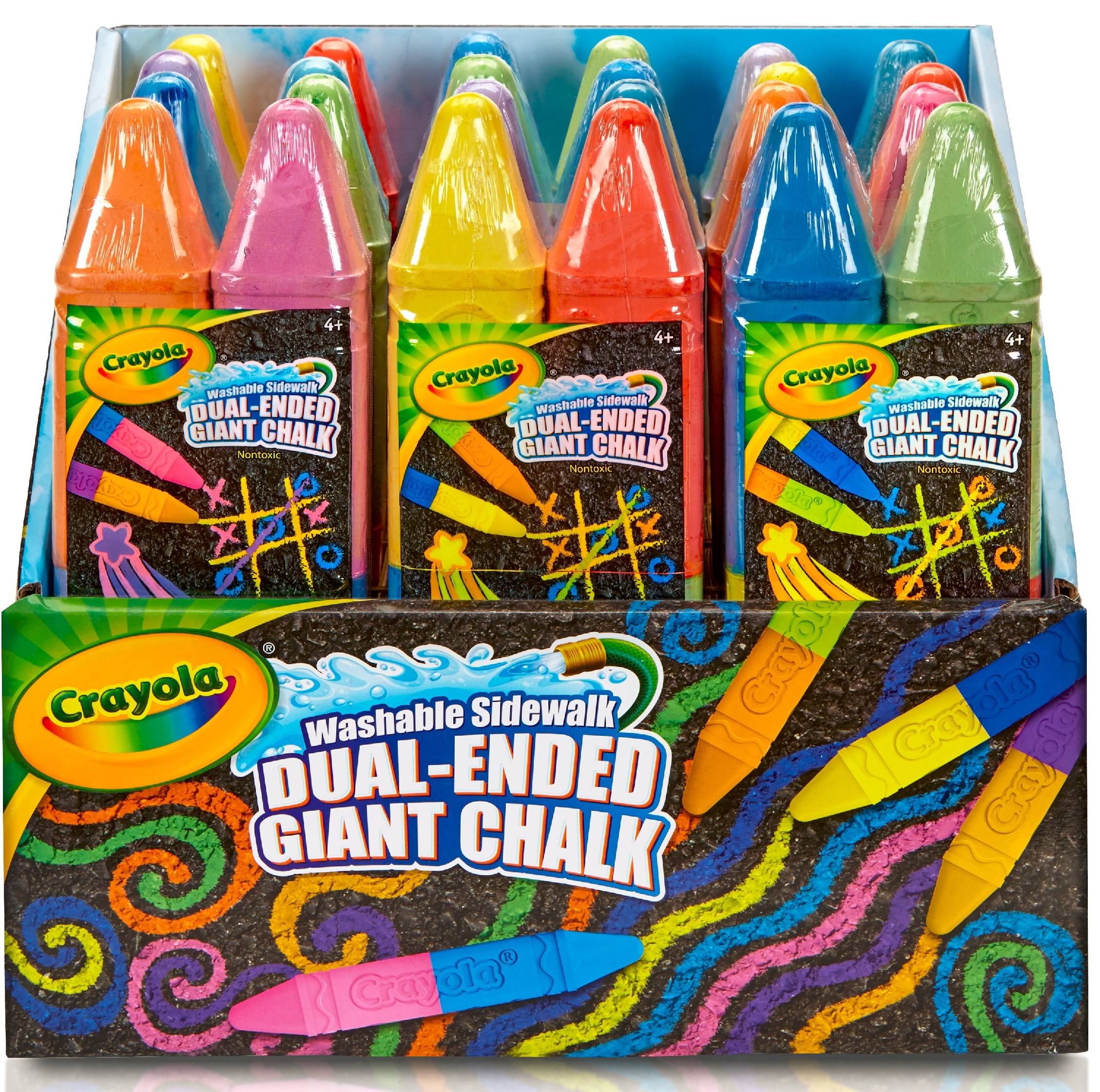 Crayola 12 Count 2 Color Dual Ended Giant Washable Sidewalk Chalk