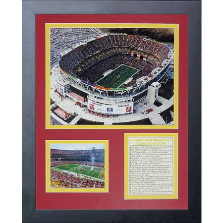 Legends Never Die Washington Redskins  Fedex Field Framed Photo Collage  11  X 14