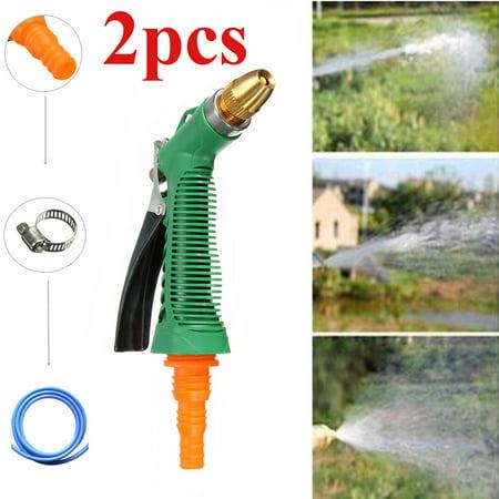 2 PCS High Pressure Power Washer Spray Nozzle Water Spray Gun Garden Heavy Duty Metal Easy Flow Control Setting Ergonomic Trigger for Car Washing Plant Pets 16.5-26.3FT - Wishing Plant