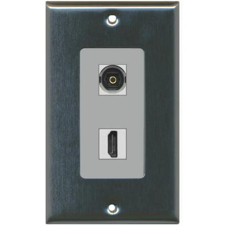 RiteAV 1 Toslink Digital Audio Port and 1 HDMI Port Wall Plate Decorat