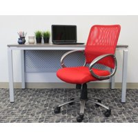 Boss Office Products Red Adjustable Breatheable Task Chair