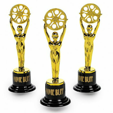Movie Buff Gold Trophies (1 dz) by, Movie Buff Gold Trophies. By Fun Express