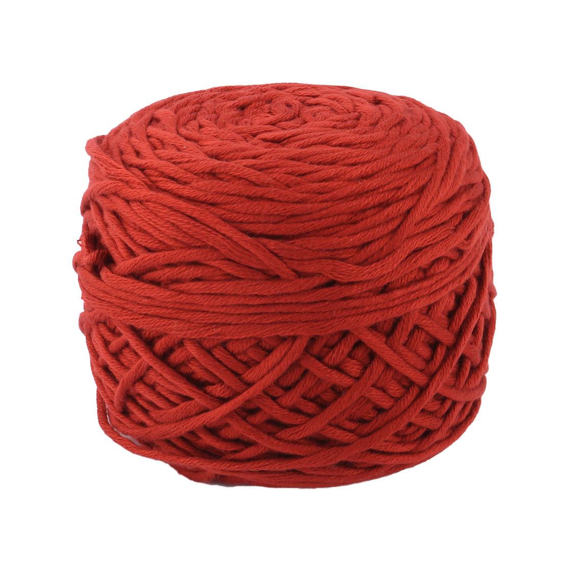 Acrylic Fiber Handmade Crochet Socks Gloves Knitting Yarn Cord Brick Red 200g