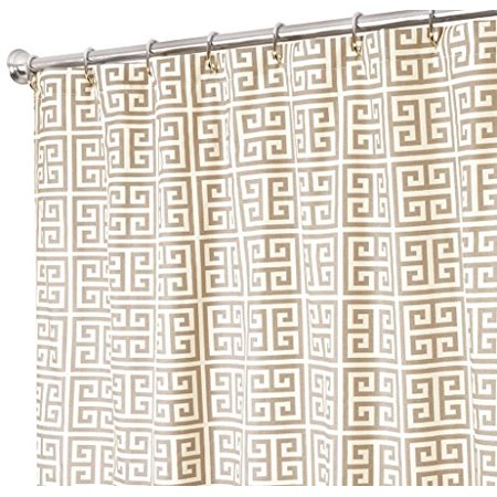 Extra Long Shower Curtain Gray Curtains Unique Fabric 84 Greek Key