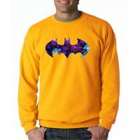 Trendy USA 631 - Crewneck Batman Galaxy Logo Parody Sweatshirt 2XL Royal Blue