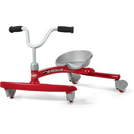 Radio Flyer, Ziggle, Caster Ride-on for Kids, 360 Degree Spins, Red