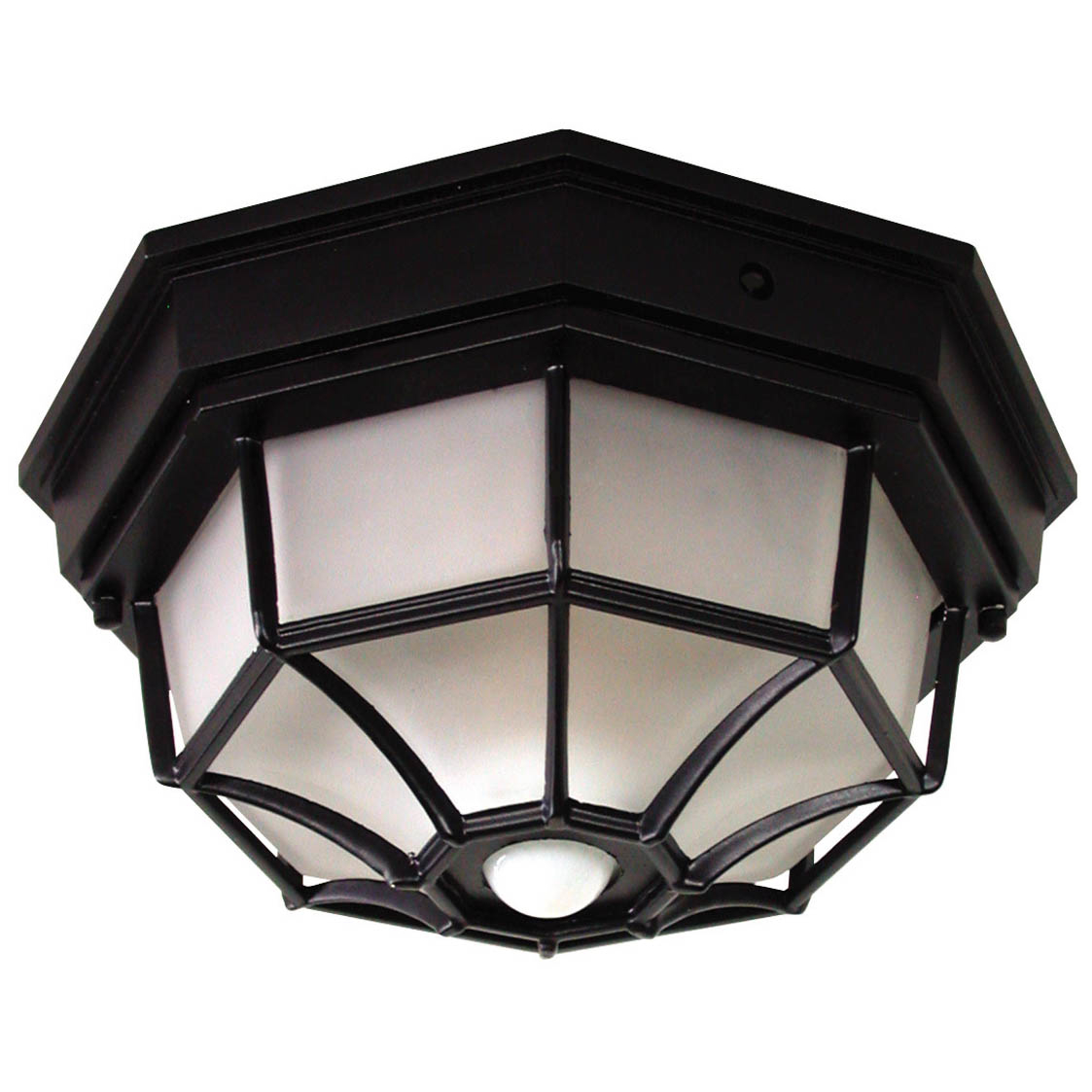 Heathco HZ-4300-BK 4 Bulb 25 W Black Candelabra DualBrite® Ceiling Lite