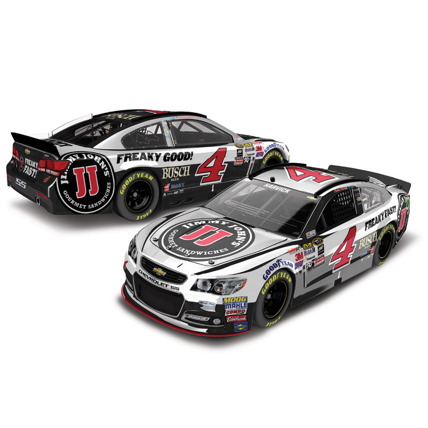 Kevin Harvick Action Racing 2016 #4 Jimmy John's 1:24 Nascar Sprint Cup Series Color... by Lionel LLC