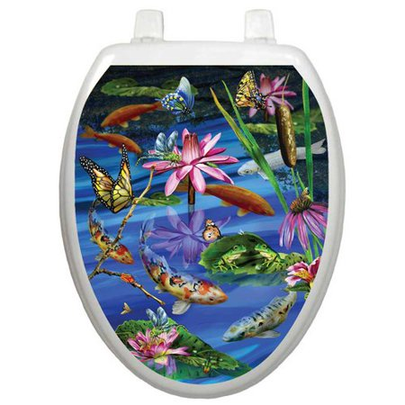 - Toilet Tattoos Themes Koi Fish Toilet Seat Decal