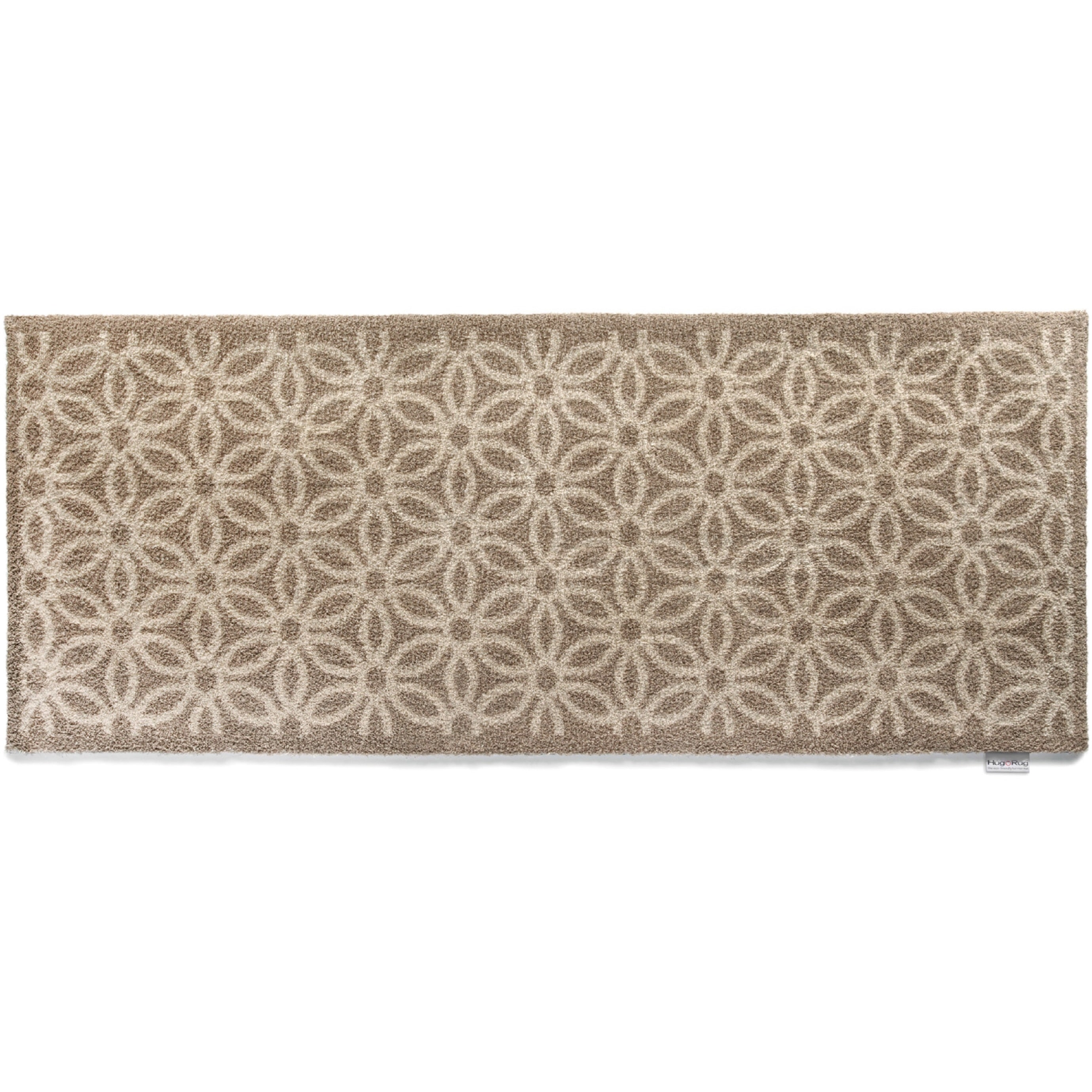 Bosmere  Eco-friendly Dirt Trapper Daisy Beige Washable Runner Rug (2' x 5')