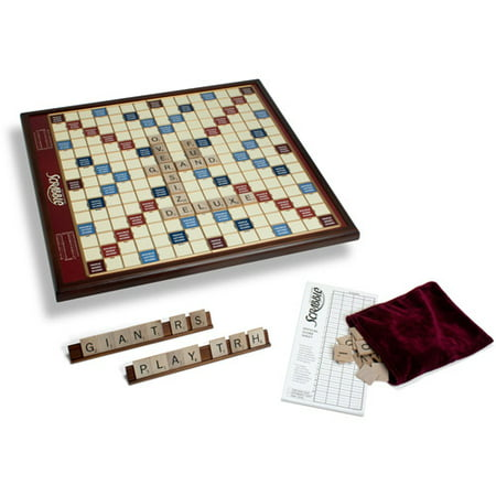 Winning Solutions Giant Scrabble Game Deluxe Wood Edition