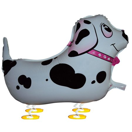 MY BALLOON STORE® TM WALKING ANIMAL PET AIR WALKER HELIUM BALLOON PARTY DECOR PINK COLLAR DALMATIAN for $<!---->