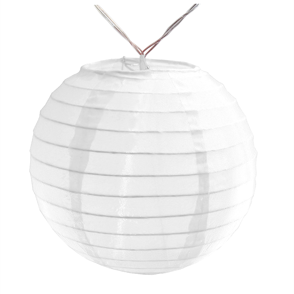 "Battery Operated String Light with 6"" Nylon Lanterns, 10 Lanterns"