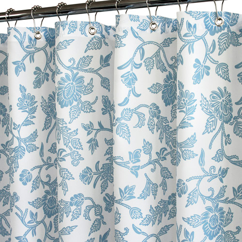 Watershed Floral Swirl Shower Curtain
