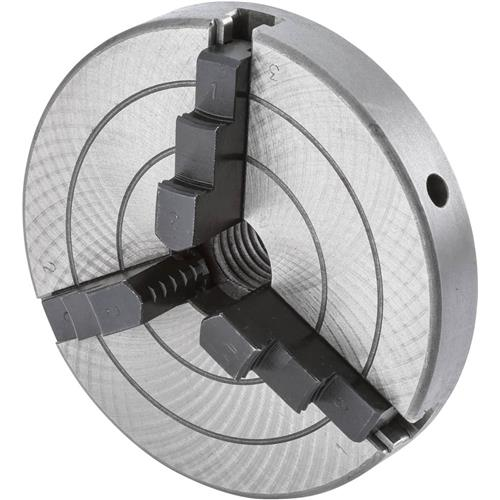 """Grizzly H8036 5"""" 3-Jaw Wood Chuck - 5/8"""" Unthreaded"""