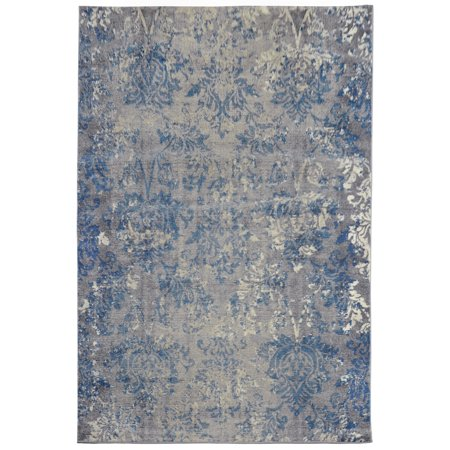 - Liora Manne Royalty Vintage Floral Indoor Rug Grey 4'10
