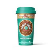 Donut Shop Coffee Shots - 100mg Caffeine, Sweet & Creamy Latte, Tasty coffee energy boost in a ready-to-drink 2oz. shot (6 pack)