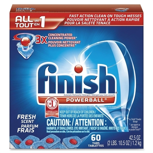 Finish PowerBall Fresh Scent Automatic Dishwasher Detergent Tabs, 60 count, 42.5 oz