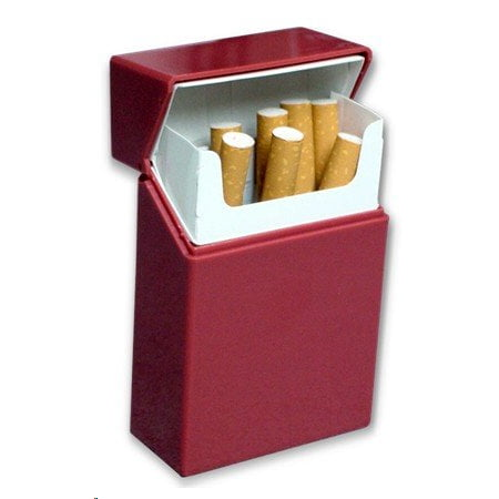 1 Cigarette Case (Hard Box Full Pack Cigarette Case (King Size) (Assorted Colors))