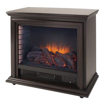 Pleasant Hearth Sheridan Mobile Infrared Fireplace - Espresso