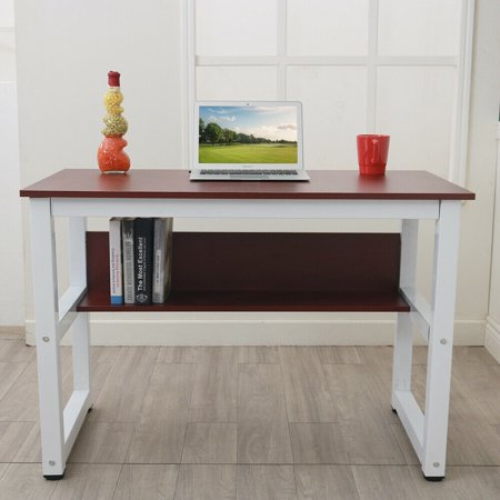 Study Desk for Teen Kids Rectangle Computer Desk Wood Work Station Writing Table Home Office Furniture Apartment Study Desk for Students