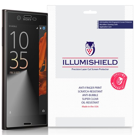 3x iLLumiShield Screen Protector Anti-Bubble for Sony Xperia