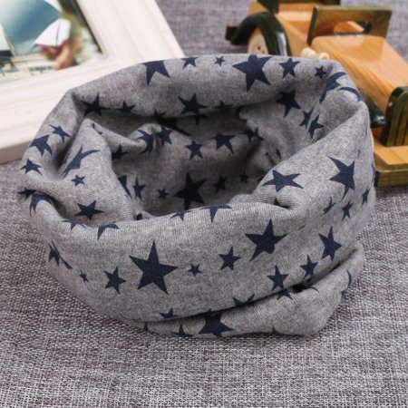 Reversible Neck Warmer (Neck Warmer Kids  Baby Scarf  Cotton  Long Warm Stars Printed Snood Outdoor )