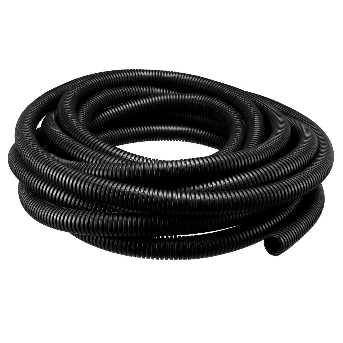 9M 25mm Outside Dia Corrugated Bellow Conduit Tube for Electric Wiring Black