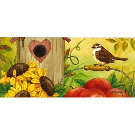 Evergreen Autumn Medley Decorative Mat Insert, 10 x 22 inches ()