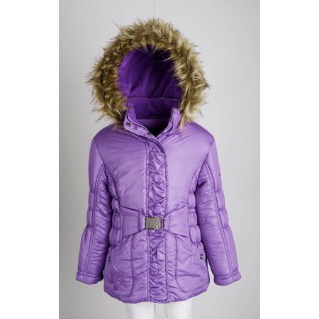 Rothschild Little Girls Down Alternative Fleece Winter Puffer Bubble Jacket Coat (Girls Winter Clothes Sale)