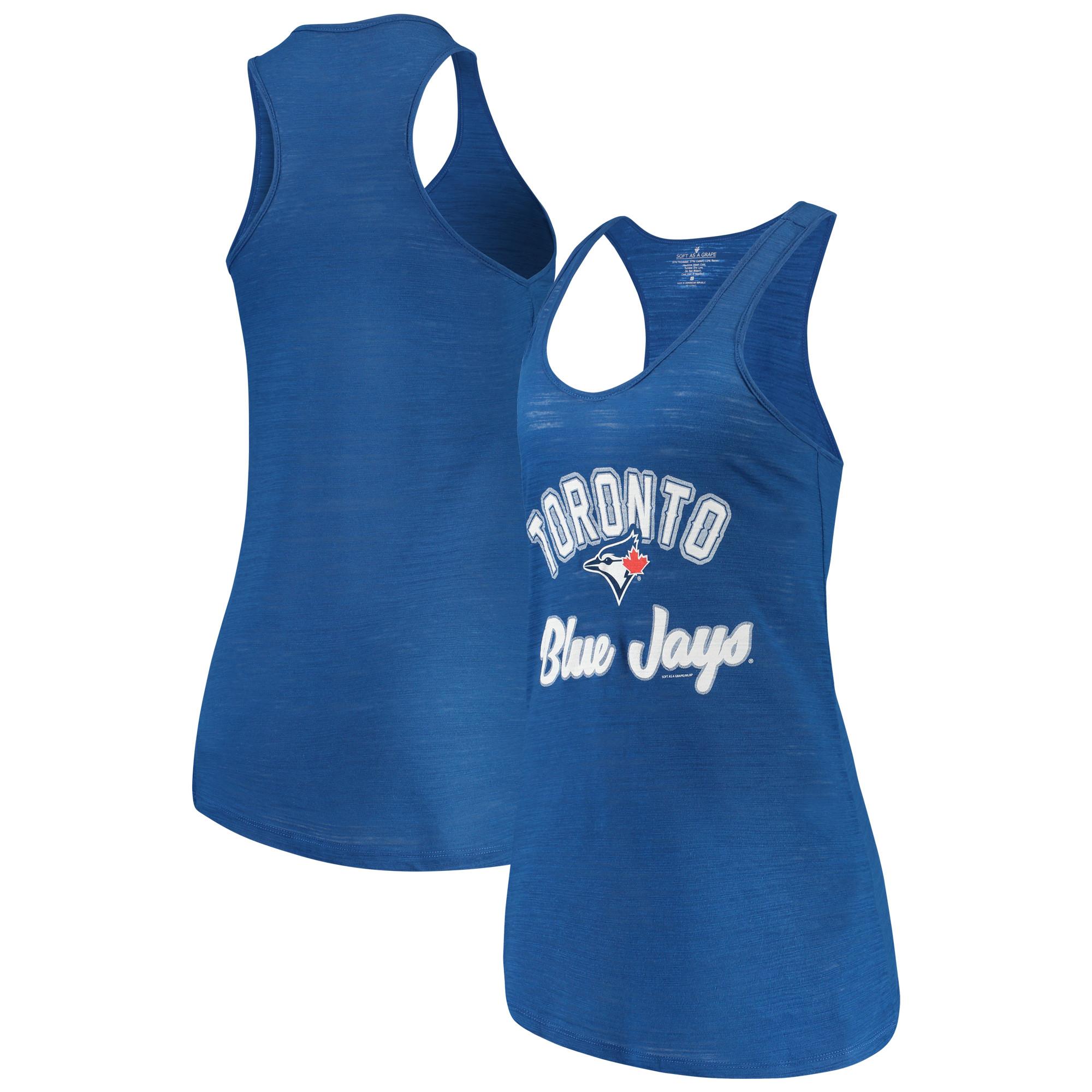 Toronto Blue Jays Soft as a Grape Women's Multicount Racerback Tank Top - Royal