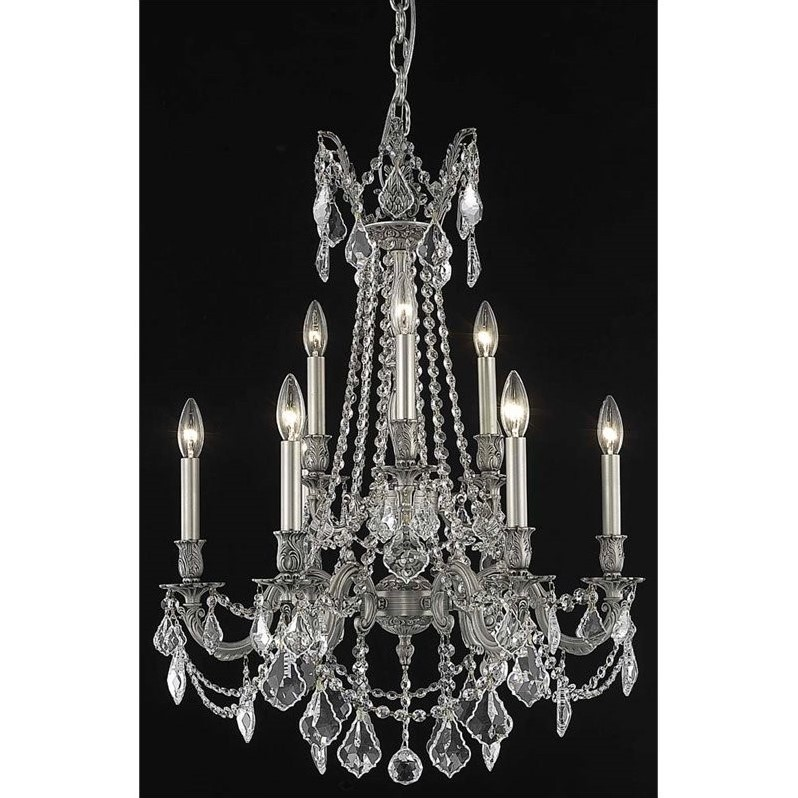 "Elegant Lighting Rosalia 23"" 9 Light Elegant Crystal Chandelier"