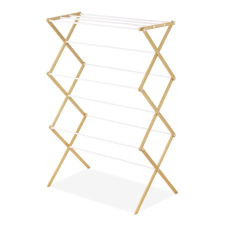 Whitmor 6026-2415 Natural Wood Clothes Drying Rack (All In One Wood Rack)