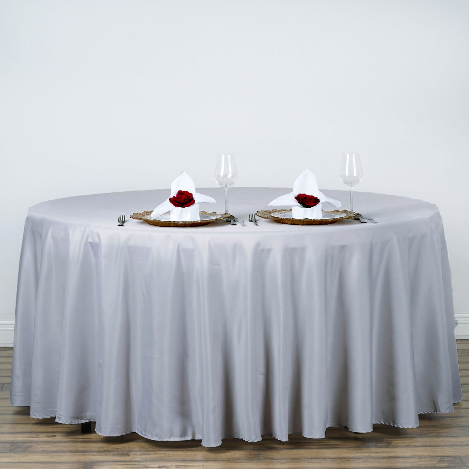 """Efavormart 120"""" Round Polyester Tablecloth for Kitchen Dining Catering Wedding... by"""