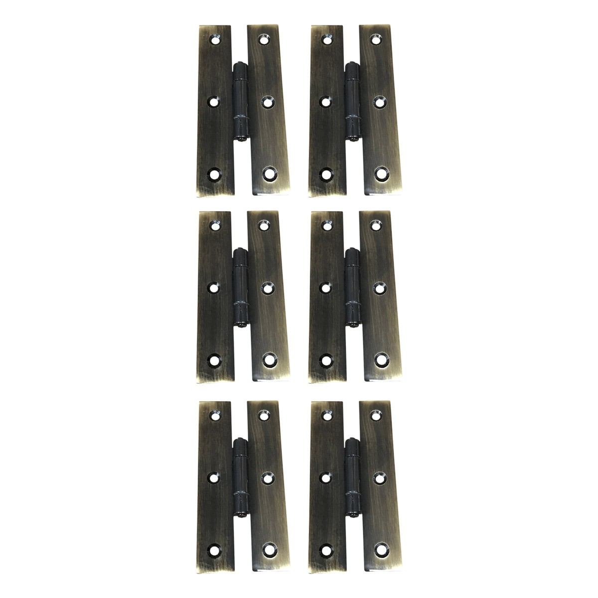 Oil Rubbed Bronze Cabinet Flush H Hinge 3 Inches Pack of 6 | Renovator's Supply