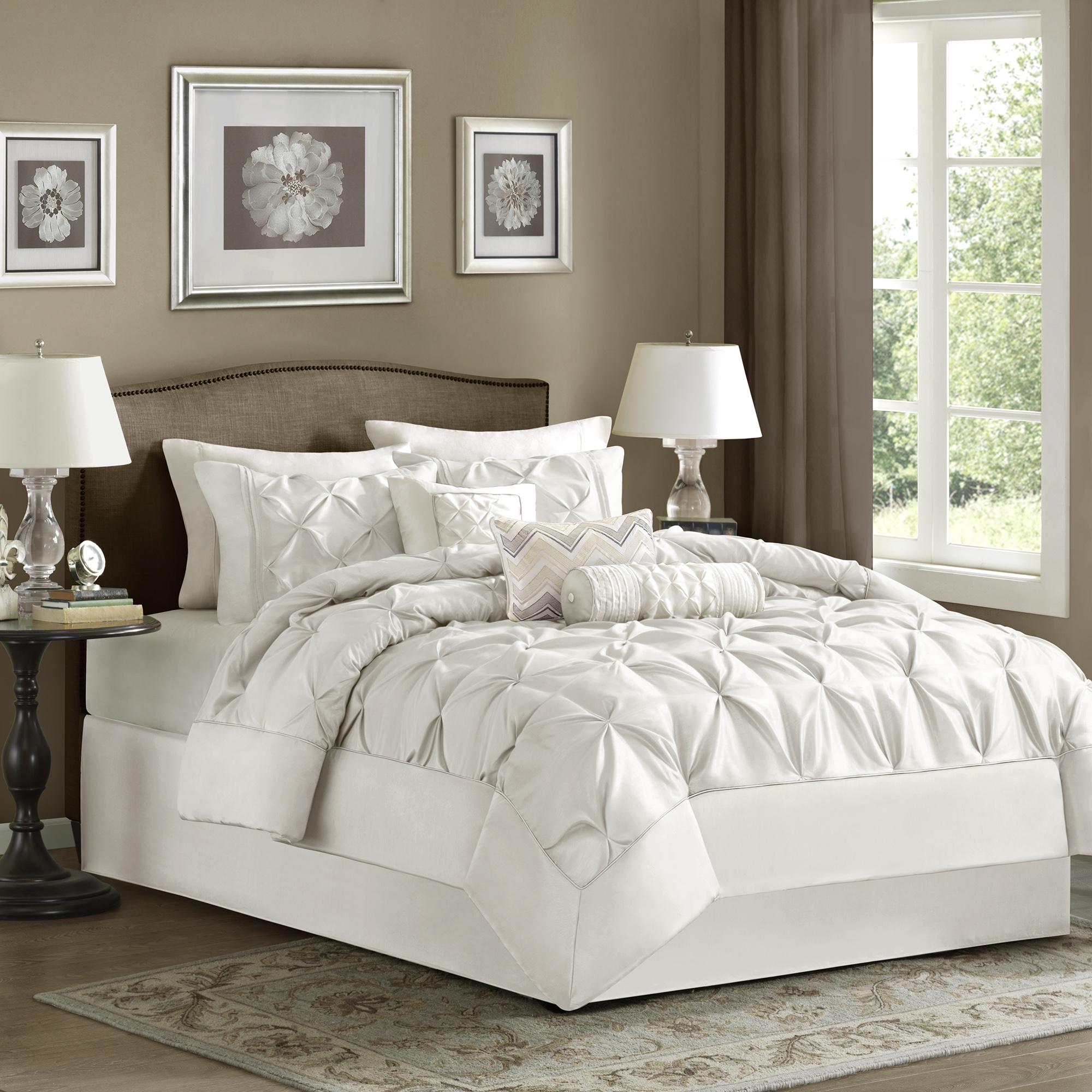 Piedmont Comforter Set (Full) White - 7pc