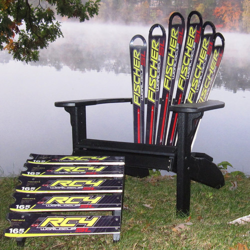 Ski Chair Snow Fischer Ski Plastic Adirondack Chair and Ottoman