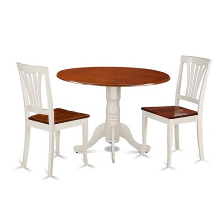 kitchen table set with dining table and 2 kitchen chairs