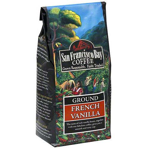 San Francisco Bay Coffee French Vanilla Ground Coffee, 12 oz (Pack of 6)