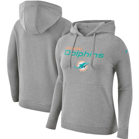 Clubs In Miami For Halloween (Miami Dolphins Nike Women's Club Tri-Blend Pullover Hoodie - Heathered)