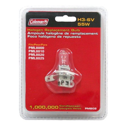 55w Halogen Replacement Bulb - Coleman Halogen Replacement Bulbs - H3 - 6V - 55W - PML8000/10/20/25