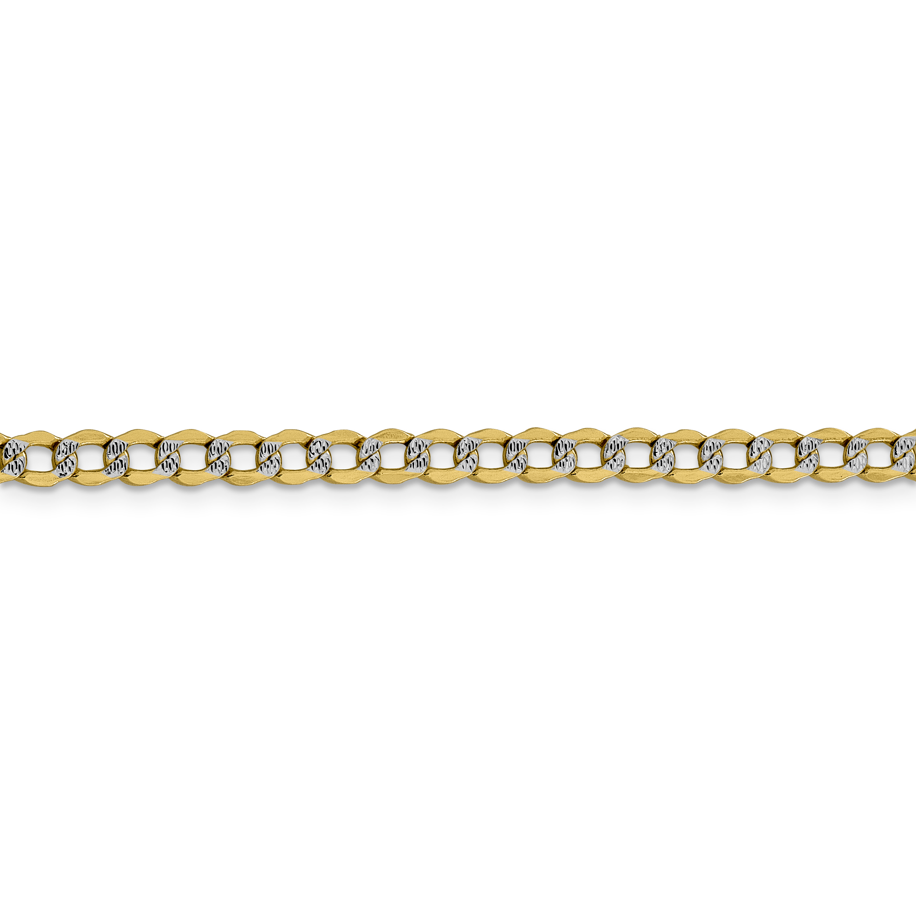 14k Yellow Gold 4.3mm Link Curb Chain Necklace 20 Inch Pendant Charm Pav? Fine Jewelry Gifts For Women For Her - image 2 of 5