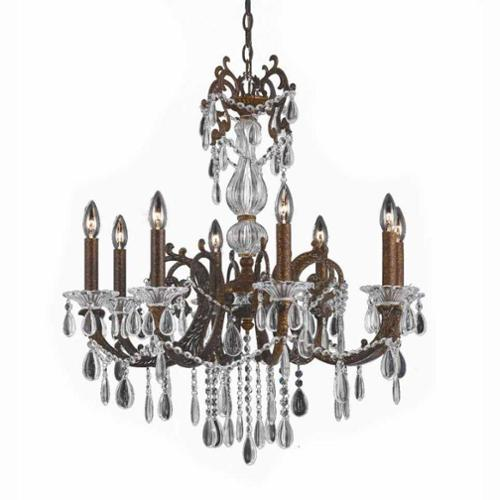 Lumenno  Vienna Collection 8-light Bronze with Gold and Silver Wash Chandelier