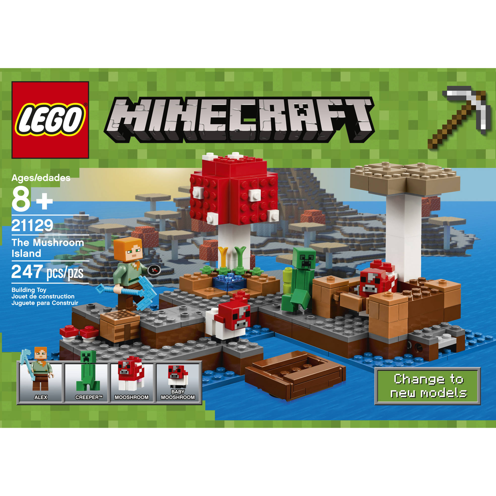 LEGO Minecraft The Mushroom Island (21129) - Walmart.com for All Minecraft Characters  45ifm