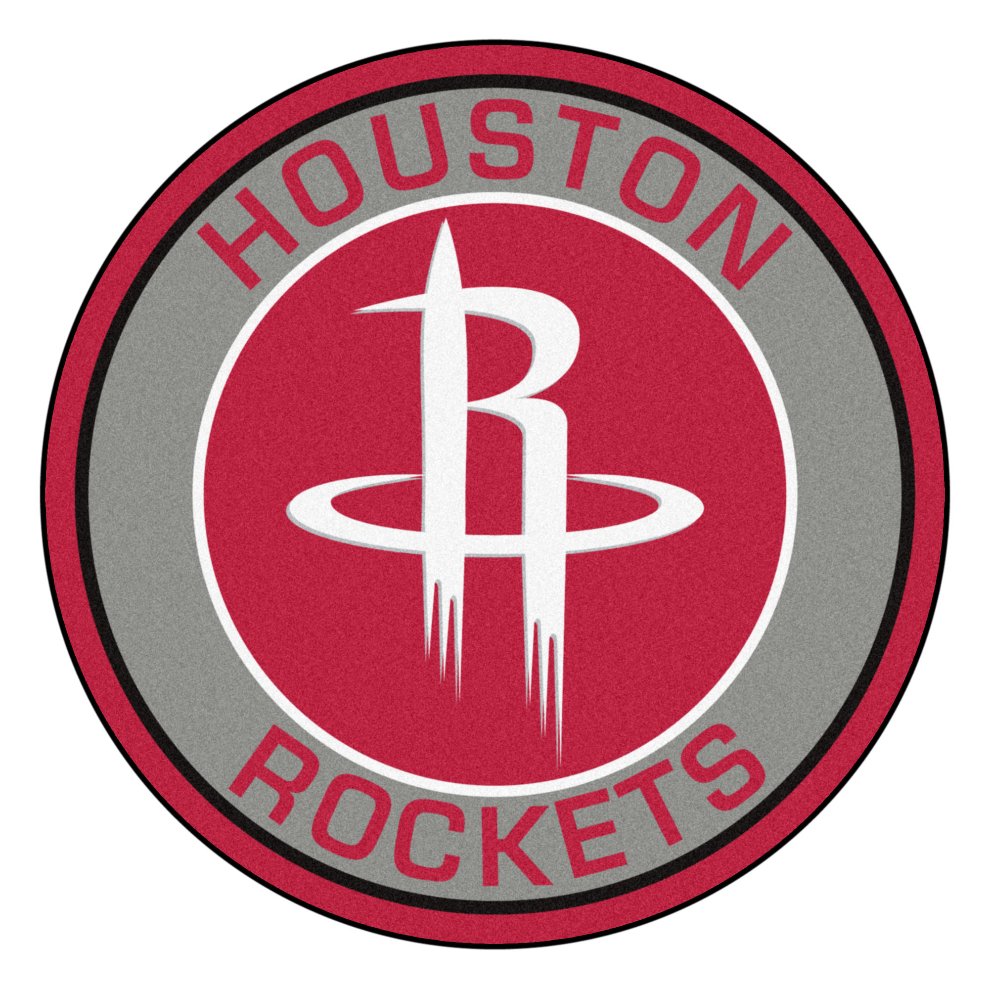 NBA Houston Rockets Rounded Non-Skid Mat Area Rug