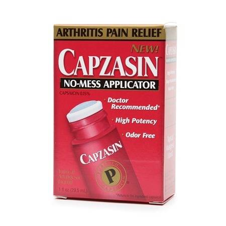 Capzasin Arthritis Pain Relief, No Mess Applicator 1.0 fl oz(pack of 3)