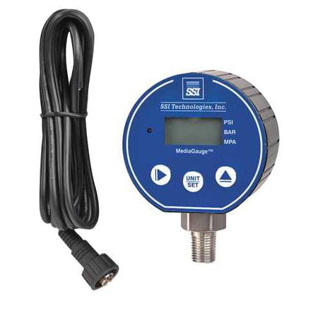 SSI MG-100-A-MD-R Digital Pressure Gauge, 100 PSI MG-MD 100 Psi Pressure Gauge