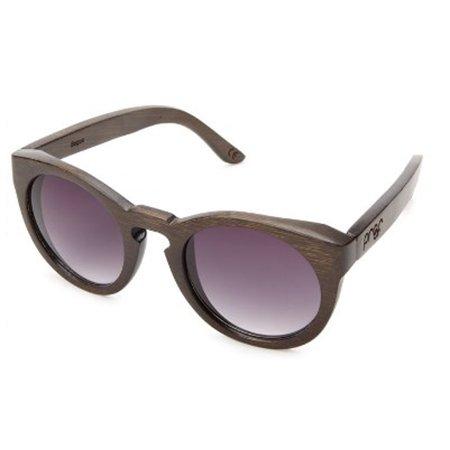 Proof Eyewear Ivory Wood Brown Frame Pink Lens Sunglasses - (Proofs Sunglasses)